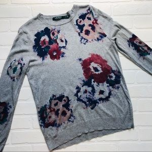 Ralph Lauren Gray Floral Sweater